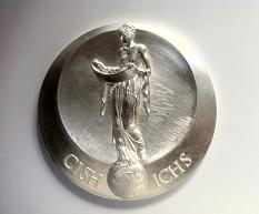 Médaille realisée en 2015 par le graveur francais Nicolas Salagnac sur un dessin de l'artiste russe Iouri Vichnevsky